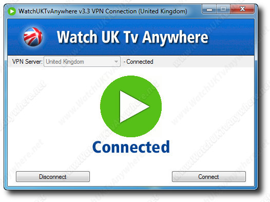 WatchUKTvAnywhere Control Window